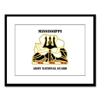 MSARNG - M01 - 02 - DUI - Mississippi Army National Guard with Text - Large Framed Print
