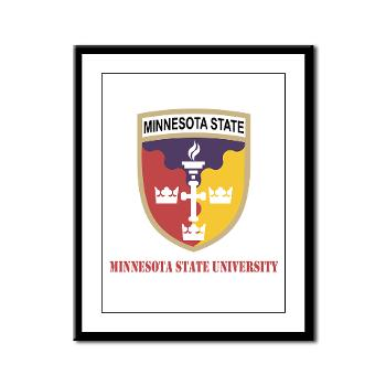 MSU - M01 - 02 - SSI - ROTC - Minnesota State University with Text - Framed Panel Print