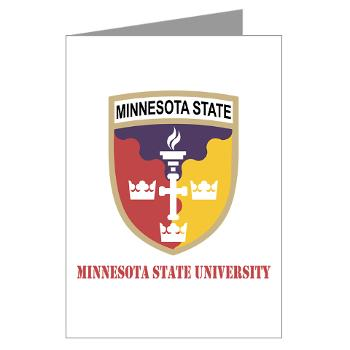 MSU - M01 - 02 - SSI - ROTC - Minnesota State University with Text - Greeting Cards (Pk of 10)