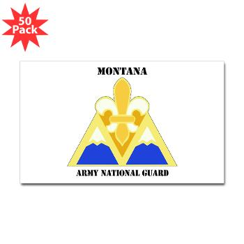 MTARNG - M01 - 01 - DUI - Montana Army National Guard with Text - Sticker (Rectangle 50 pk)