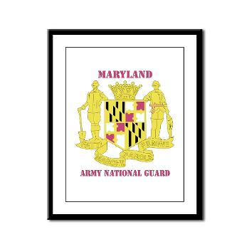 MarylandARNG - M01 - 02 - DUI - Maryland Army National Guard with Text - Framed Panel Print