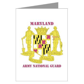 MarylandARNG - M01 - 02 - DUI - Maryland Army National Guard with Text - Greeting Cards (Pk of 20)