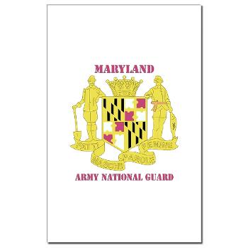 MarylandARNG - M01 - 02 - DUI - Maryland Army National Guard with Text - Mini Poster Print