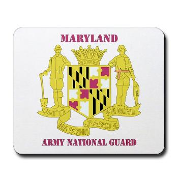 MarylandARNG - M01 - 03 - DUI - Maryland Army National Guard with Text - Mousepad