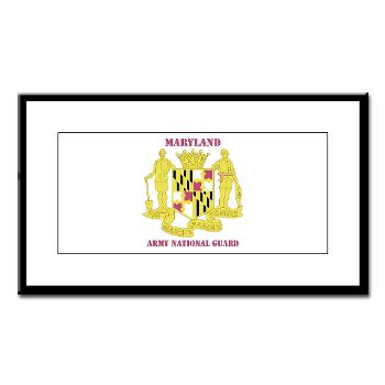 MarylandARNG - M01 - 02 - DUI - Maryland Army National Guard with Text - Small Framed Print