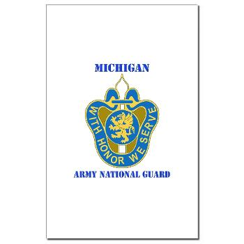 MichiganARNG - M01 - 02 - DUI - Michigan Army National Guard with Text Mini Poster Print