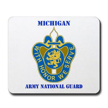 MichiganARNG - M01 - 03 - DUI - Michigan Army National Guard with Text Mousepad