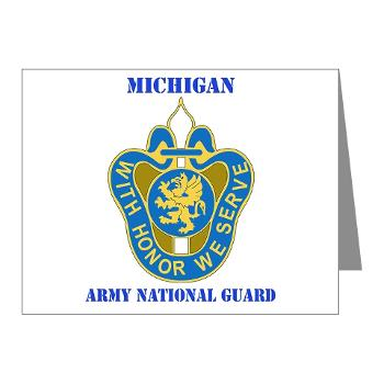 MichiganARNG - M01 - 02 - DUI - Michigan Army National Guard with Text Note Cards (Pk of 20)