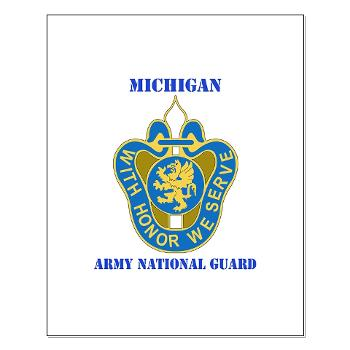 MichiganARNG - M01 - 02 - DUI - Michigan Army National Guard with Text Small Poster