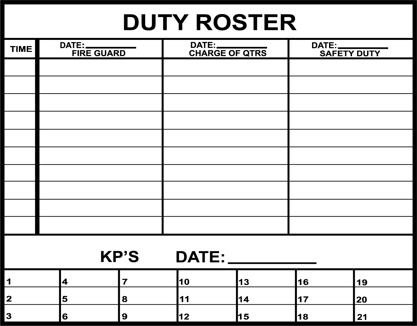 Army training army training roster for Army battle roster template