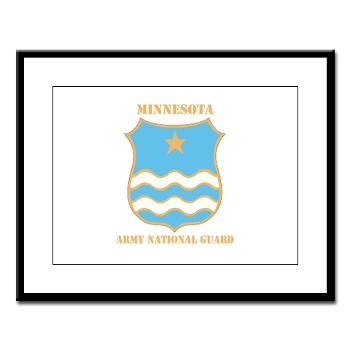 MinnesotaARNG - M01 - 02 - DUI - Minnesota Army National Guard with Text Large Framed Print