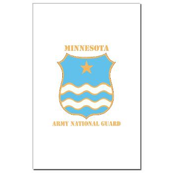 MinnesotaARNG - M01 - 02 - DUI - Minnesota Army National Guard with Text Mini Poster Print