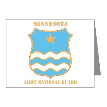 MinnesotaARNG - M01 - 02 - DUI - Minnesota Army National Guard with Text Note Cards (Pk of 20)