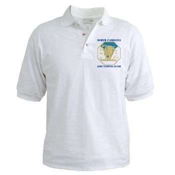 NCARNG - A01 - 04 - DUI - North Carolina Army National Guard with text - Golf Shirt