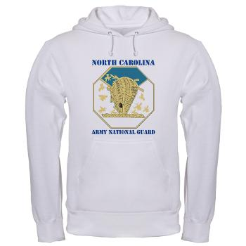 NCARNG - A01 - 03 - DUI - North Carolina Army National Guard with text - Hooded Sweatshirt