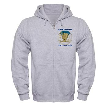 NCARNG - A01 - 03 - DUI - North Carolina Army National Guard with text - Zip Hoodie