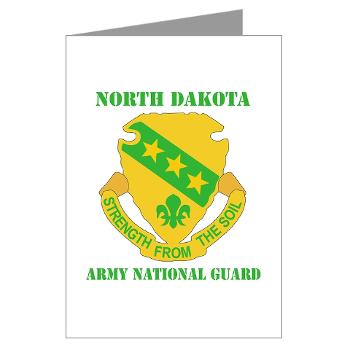 NDARNG - M01 - 02 - DUI - North Dakota Nationl Guard With Text - Greeting Cards (Pk of 10)