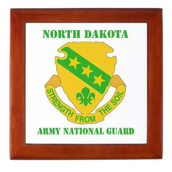 NDARNG - M01 - 03 - DUI - North Dakota Nationl Guard With Text - Keepsake Box