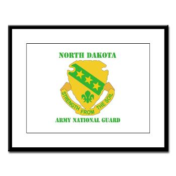 NDARNG - M01 - 02 - DUI - North Dakota Nationl Guard With Text - Large Framed Print