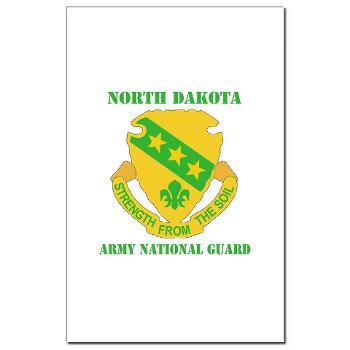NDARNG - M01 - 02 - DUI - North Dakota Nationl Guard With Text - Mini Poster Print