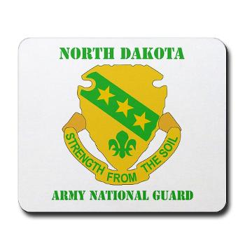 NDARNG - M01 - 03 - DUI - North Dakota Nationl Guard With Text - Mousepad