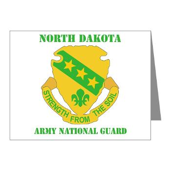 NDARNG - M01 - 02 - DUI - North Dakota Nationl Guard With Text - Note Cards (Pk of 20)