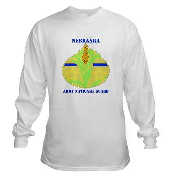 NEARNG - A01 - 03 - DUI - Nebraska Army National Guard with Text Long Sleeve T-Shirt