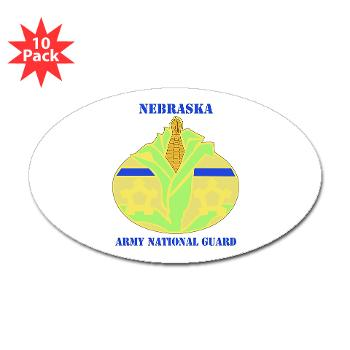 NEARNG - M01 - 01 - DUI - Nebraska Army National Guard with Text Sticker (Oval 10 pk)