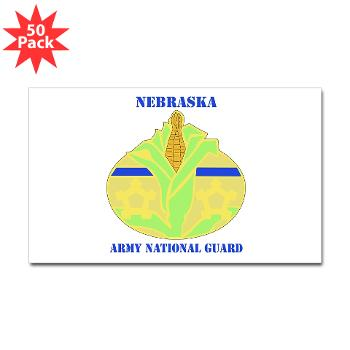 NEARNG - M01 - 01 - DUI - Nebraska Army National Guard with Text Sticker (Rectangle 50 pk)
