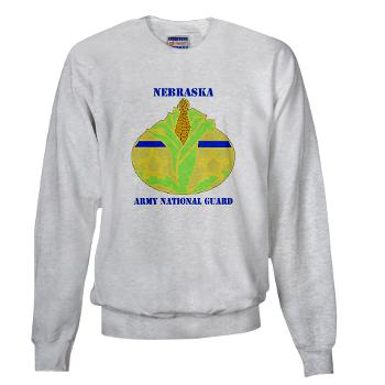 NEARNG - A01 - 03 - DUI - Nebraska Army National Guard with Text Sweatshirt