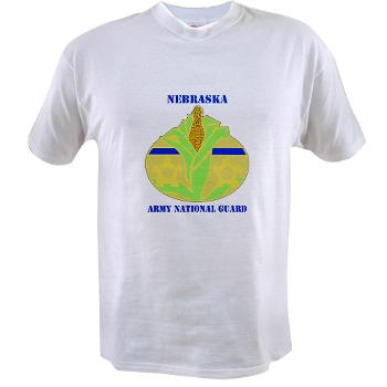 NEARNG - A01 - 04 - DUI - Nebraska Army National Guard with Text Value T-Shirt
