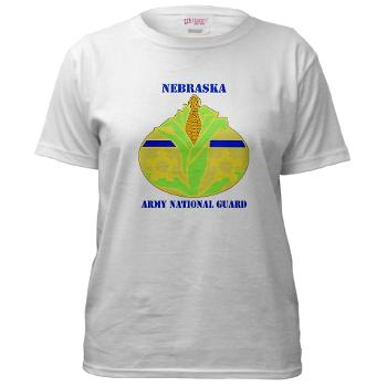 NEARNG - A01 - 04 - DUI - Nebraska Army National Guard with Text Women's T-Shirt
