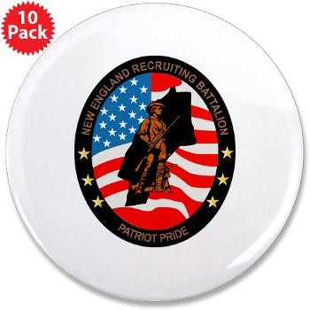 "NERB - M01 - 01 - DUI - New England Recruiting Battalion - 3.5"" Button (10 pack)"