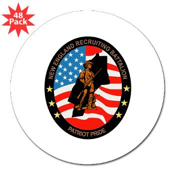 "NERB - M01 - 01 - DUI - New England Recruiting Battalion - 3"" Lapel Sticker (48 pk)"