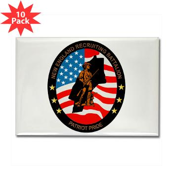 NERB - M01 - 01 - DUI - New England Recruiting Battalion - Rectangle Magnet (10 pack)