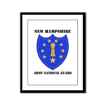 NHARNG - M01 - 02 - DUI - NEW HAMPSHIRE ARMY NATIONAL GUARD WITH TEXT - Framed Panel Print