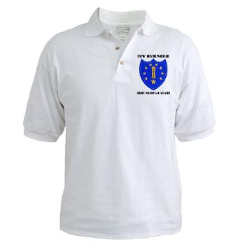 NHARNG - A01 - 04 - DUI - NEW HAMPSHIRE ARMY NATIONAL GUARD WITH TEXT - Golf Shirt