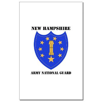 NHARNG - M01 - 02 - DUI - NEW HAMPSHIRE ARMY NATIONAL GUARD WITH TEXT - Mini Poster Print