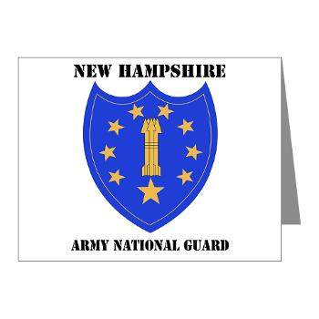 NHARNG - M01 - 02 - DUI - NEW HAMPSHIRE ARMY NATIONAL GUARD WITH TEXT - Note Cards (Pk of 20)
