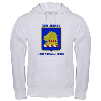 NJARNG - A01 - 03 - DUI - New Jersey Army National Guard with Text - Hooded Sweatshirt