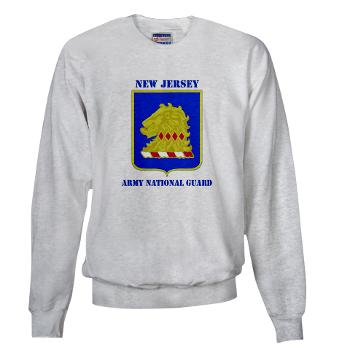 NJARNG - A01 - 03 - DUI - New Jersey Army National Guard with Text - Sweatshirt