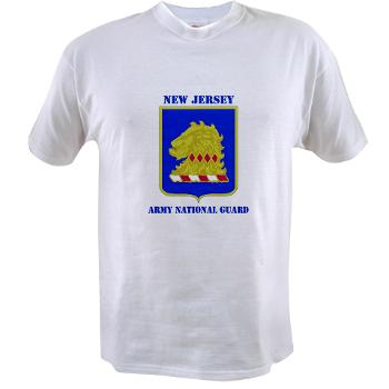 NJARNG - A01 - 04 - DUI - New Jersey Army National Guard with Text - Value T-Shirt
