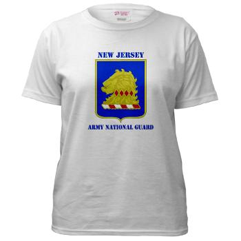 NJARNG - A01 - 04 - DUI - New Jersey Army National Guard with Text - Women's T-Shirt