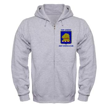 NJARNG - A01 - 03 - DUI - New Jersey Army National Guard with Text - Zip Hoodie