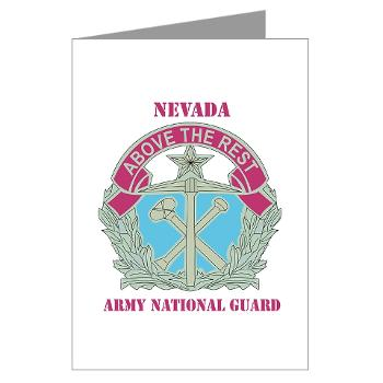 NVARNG - M01 - 02 - DUI - Nevada Army National Guard with Text Greeting Cards (Pk of 10)