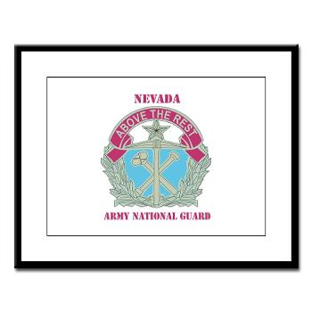 NVARNG - M01 - 02 - DUI - Nevada Army National Guard with Text Large Framed Print
