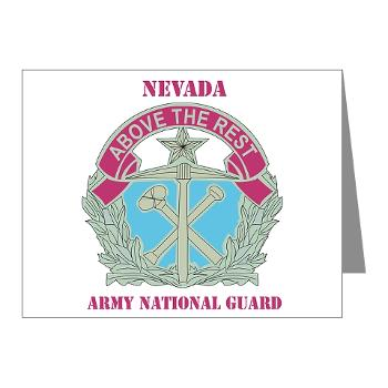 NVARNG - M01 - 02 - DUI - Nevada Army National Guard with Text Note Cards (Pk of 20)