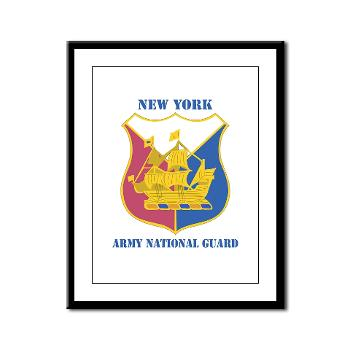 NYARNG - M01 - 02 - DUI - New York Army National Guard With Text - Framed Panel Print