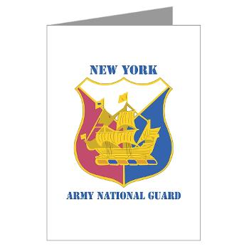 NYARNG - M01 - 02 - DUI - New York Army National Guard With Text - Greeting Cards (Pk of 10)