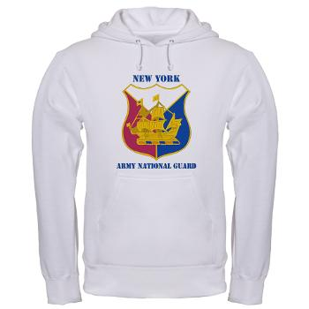 NYARNG - A01 - 03 - DUI - New York Army National Guard With Text - Hooded Sweatshirt